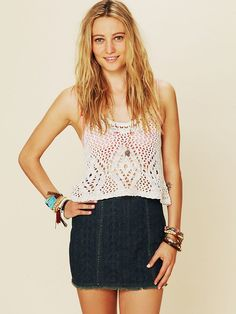 Free People Crochet Tank at Free People Clothing Boutique