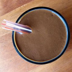 """The """"Chocolate Pudding Smoothie"""" is actually a healthy drink with swiss chard and avocado in it. Gotta try it if for nothing else but morbid curiousity. #recipe #cooking #health"""