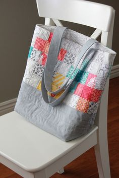 Scrappy quilted tote bag | Flickr - Photo Sharing!