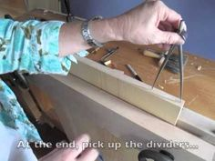 Lay Out Dovetails Using Dividers