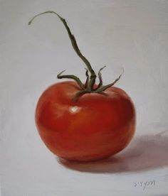 Abbey Ryan's painting a day project: tomato