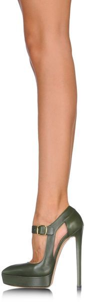 Casadei Closed Toe in Green (Military green) - Lyst
