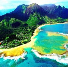 Tunnels Beach in Kauai, Hawaii