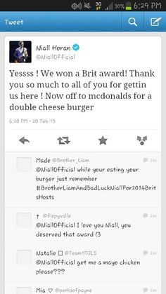 HOORAY!!!!! Last year after they won their Brit they went to McDonalds too :)