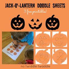 jackolantern doodl, doodl sheet, free printabl, halloween parti