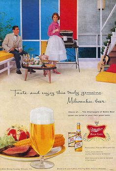 Taste and Enjoy This Truly Genuine Milwaukee Beer - Miller High Life    The Champagne of Bottle Beer