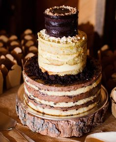 Naked Chocolate Wedding Cake 20 Decadent and Delicious Chocolate Wedding Cakes – Plus 10 Things You Never Knew About Chocolate!