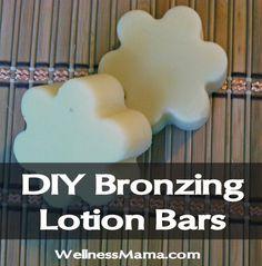 DIY Bronzing Lotion Bars