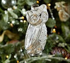mine.  Mercury Glass Owl Ornament #potterybarn