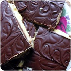 Nanaimo bars, sometimes you just need some sugar! | Finding Vegan #vegan - submitted by In Vegetables We Trust