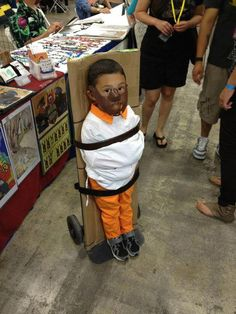 Actually couldn't wait to post this.  From SDCC this year, a kid dressed as Hannibal Lecter, complete with mouth guard, is strapped to Lecter's trademark stand-up gurney from Silence of the Lambs.  This is it: This is how you parent.  -Not my caption to the photo but completely everything I wanted to say about it