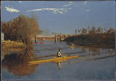 The Champion Single Sculls by Thomas Eakins (American, Philadelphia, Pennsylvania 1844-1916)  Oil on canvas