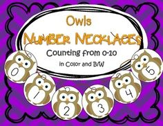 ***FREE***  This is a fun number activity for early learners, featuring numbers from 0-10, and recognizing and ordering them. In color and b/w.  6 pages