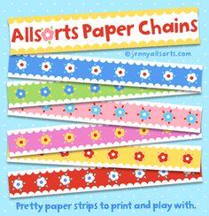Freebie printable paper chains