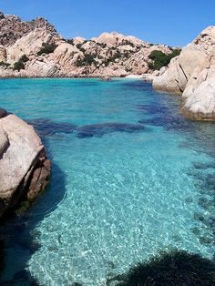 Cala Coticcio in Maddalena Archipelago, Sardinia, Italy