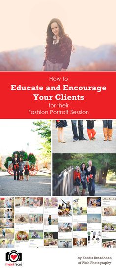 How to Educate and Encourage Your Client for Their Fashion Portrait Session by Wish Photography for iHeartFaces.com