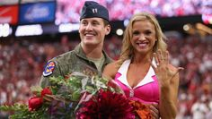 The Arizona Cardinals may have defeated the Washington Redskins on Sunday, but Cardinals cheerleader Claire Thorton, 23, was the big winner when her Air Force Captain boyfriend got down on one knee during...
