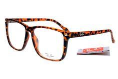 Ray-Ban Square 2428 Leopard Grain Frame Transparent Lens RB1129- $25.29