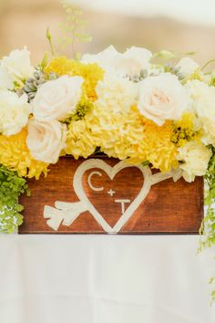Yellow & Grey Summer Wedding  {The Frosted Petticoat}
