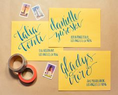 Hand lettered invitations by Blooming House Collective