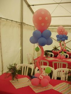 Baloons centerpieces