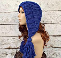 Tassel Hat in Cobalt Blue - READY TO SHIP