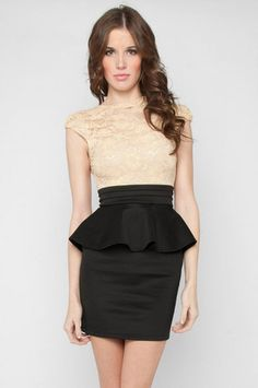 Laced with Love Dress in Almond $50 at www.tobi.com