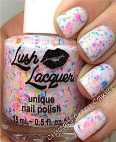 splattered nail designs