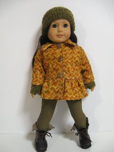 American Girl Doll Clothes  Fall Walk by 123MULBERRYSTREET on Etsy