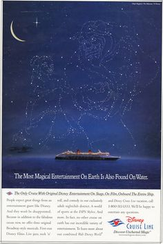 old disney cruise ad