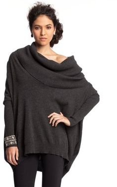 Pepper Cashmere Oversized Cowl Neck Sweater - Lyst