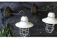 Farmhouse Accent: Metal Wall Sconce, Set of 2 - From Antiquefarmhouse.com - http://www.antiquefarmhouse.com/current-sale-events/accent12/farmhouse-accent-metal-wall-sconce-set-of-2.html
