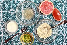 Make a gentle exfoliating mask from ingredients you probably already have in your kitchen.