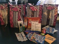Labor & Delivery nurse gifts! Lotion, hand sanitizer, fruit snacks, new pens, post-its, gum, hot chocolate, candy, chapstick, crystal light, tea bags. All wrapped up cute!