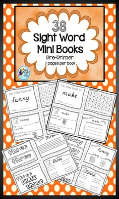38 Sight Word Mini Books - 7 pages of activities for each word. $