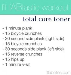 core toning workout