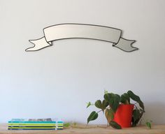 Ribbon Banner Mirror by fluxglass on Etsy, $72.00