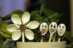 Vamos a hacer lindas flores con cucharas recicladas para decorar nuestras macetas