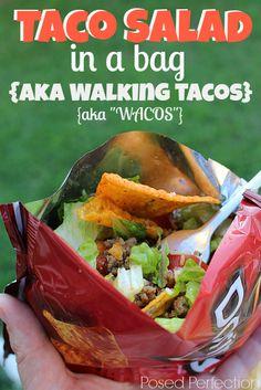 Posed Perfection: Taco Salad in a Bag {aka Walking Tacos}
