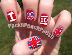 One Direction Nail Art  I'm pretty sure my cousin would totally love this design...she's crazy about 1D
