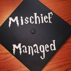 Love this Harry Potter reference on #PSUgrad Sarah's mortar board.