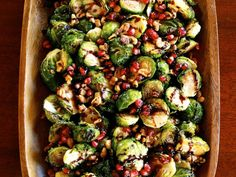 Roasted Brussels Sprouts with Pomegranate Molasses - Easy Holiday Side Dish Recipe