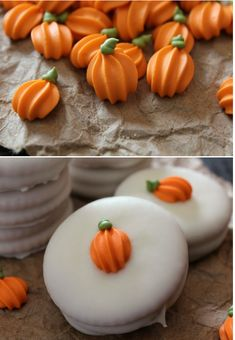How to make pumpkin royal icing accents.