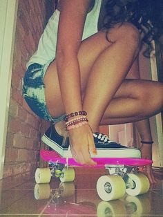 Pink Penny board.You can buy this at Local surf shop...;-) I want a PENNY Board so BAD
