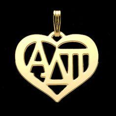 obic adpi, pendants, soror pendant, nation soror, silver plate, heart frame, silver pendant, alphadeltapi, alpha delta pi