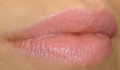 "MAC ""Creme Cup"". Light blue pink (cremesheen) lipstick. Great for my NC20 skintone."