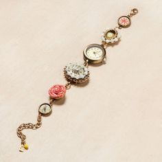 Floral Trinket Watch now featured on Fab.