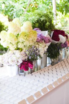 Flower market inspired display | French Market Wedding at Galleria Marchetti by Ashley Biess Photography  Read more - http://www.stylemepretty.com/illinois-weddings/2013/11/08/french-market-wedding-at-galleria-marchetti-by-ashley-biess-photography/