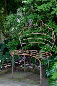 Whimsical bench for the garden.