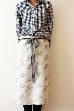 Hand printed Half Apron by gurilondon on Etsy, $43.00